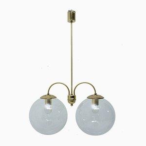 Lámpara de araña de dos brazos de Kamenický Šenov, años 70