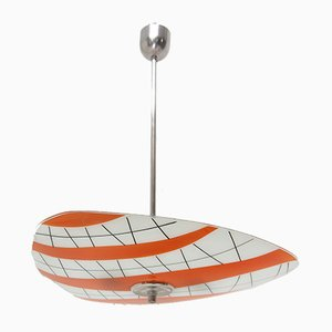 Mid-Century Czechoslovak Colored Glass Ceiling Lamp, 1960s