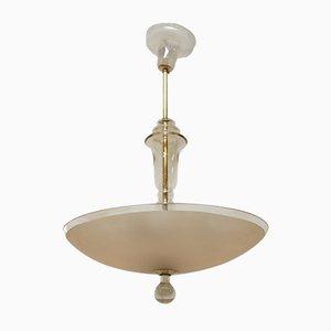 Lámpara de techo bohemia Art Déco de vidrio, años 30