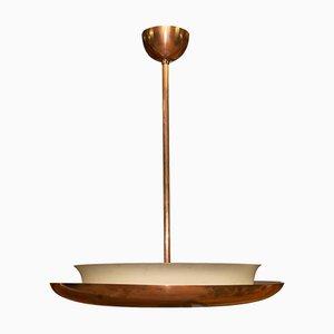 Lámpara colgante funcionalista vintage de cobre de Josef Hurka