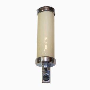 Lámpara de pared Bauhaus de cromo, años 30