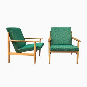 Mid-Century Armlehnstühle von TON, 1960er, 2er Set