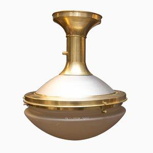 Lámpara de techo Art Déco funcionalista, años 30