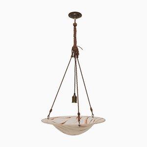 Art Deco Bohemian Ceiling Lamp, 1920s