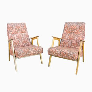 Mid-Century Eastern Bloc Armchairs, 1960s, Set of 2