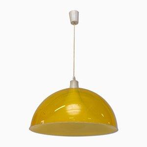 Lámpara de techo europea Mid-Century de plástico, años 60