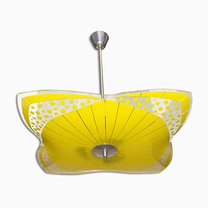 Mid-Century Czech Glass Pendant Lamp, 1960s