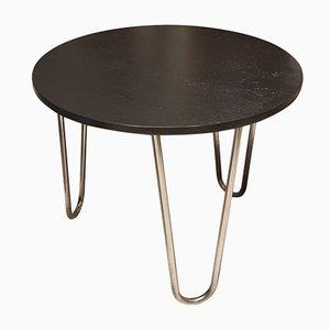 Bauhaus Oak & Chrome Side Table by Robert Slezak, 1930s