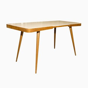Table Basse Tchécoslovaque Mid-Century en Hêtre Verni, 1960s