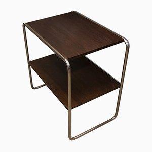 Bauhaus Tubular Steel Side Table, 1930s