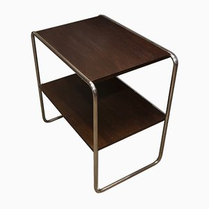 Table d'Appoint Bauhaus en Acier Tubulaire, 1930s