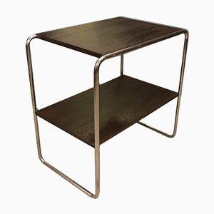 Tavolino Bauhaus placcato in metallo cromato, anni '30