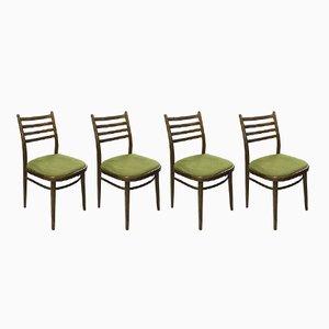 Chaises de Salle à Manger Tchécoslovaques Mid-Century, 1960s, Set de 4