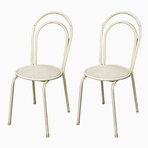 Mid-Century Czechoslovak Metal Side Chairs, Set of 2