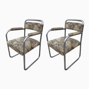 Vintage Sessel mit Stahlrohrgestell, 1930er, 2er Set