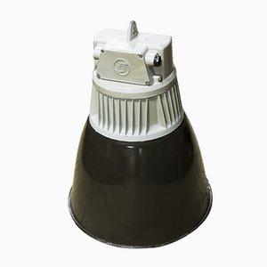Lámpara colgante checoslovaca industrial vintage