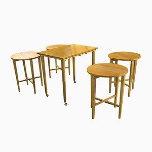 Tables Gigognes par Poul Hundevad, 1960s, Set de 5