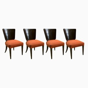 Art Deco H-214 Dining Chairs by Jindrich Halabala for ÚP Závody, 1930s, Set of 4