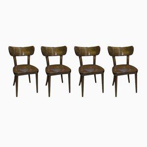 Esszimmerstühle von TON, 1950er, 4er Set