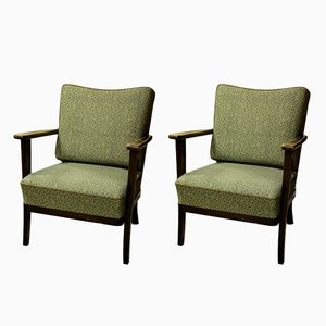 Mid-Century Czechoslovak Armchairs from Thonet, Set of 2