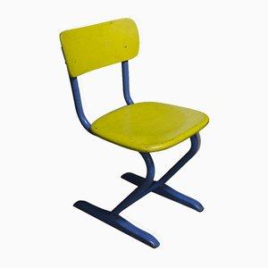 Chaise d'École Industrielle Mid-Century