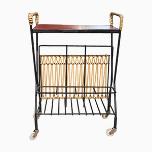 Mid-Century Trolley with Magazine Rack, 1960s