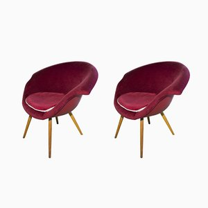 Mid-Century Czechoslovak Armchairs by Miroslav Navratil, Set of 2