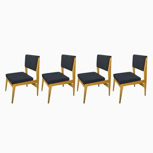 Mid-Century Swiss Teak Dining Chairs, 1960s, Set of 4