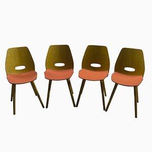 Vintage Esszimmerstühle von Frantisek Jirak für Tatra nabytok, 4er Set