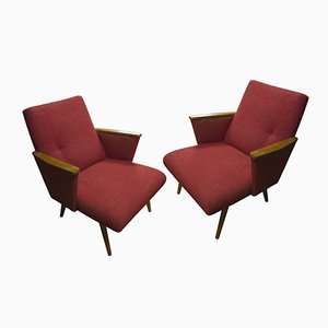 Mid-Century Brussels Period Armchairs, 1960s, Set of 2