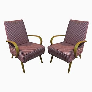 Bentwood Occasional Armchairs by Jaroslav Smidek for TON, 1960s, Set of 2