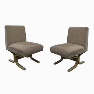 Mid-Century Armchairs from Drevopodnik Holesov, Set of 2