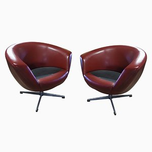 Mid-Century Modern Swivel Chairs from UP Zavody, Set of 2