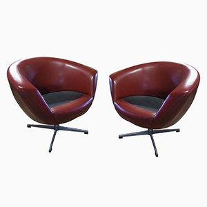 Mid-Century Modern Swivel Chairs from UP Zavody, Set of 2