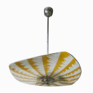 Lámpara de araña UFO Mid-Century redonda