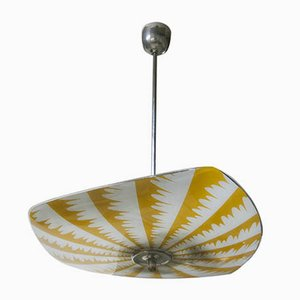 Rounded Mid-Century UFO Shaped Chandelier