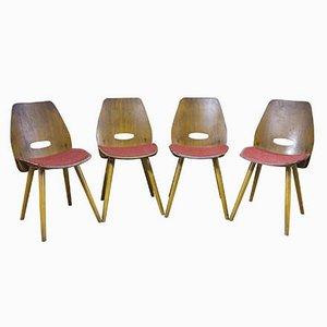 Vintage Esszimmerstühle von Frantisek Jirak für Tatra, 4er Set