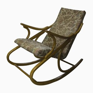 Rocking Chair Mid-Century en Bois Courbé de TON