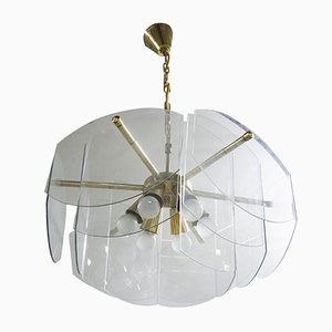 Lampe à Suspension en Verre, 1970s