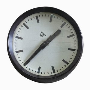 Czechoslovakian Industrial Clock from Pragotron, 1950s