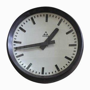 Horloge Industrielle Tchécoslovaque de Pragotron, 1950s
