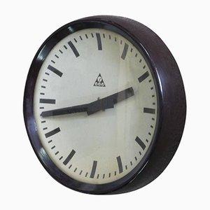 Horloge Industrielle Tchécoslovaque Mid-Century de Pragotron