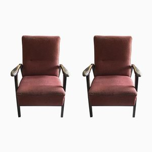 Czechoslovakian Armchairs, 1940s, Set of 2