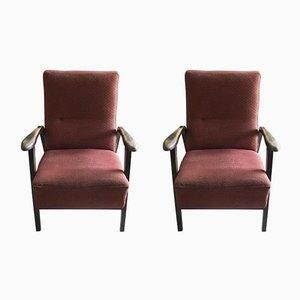 Tschechoslowakische Sessel, 1940er, 2er Set