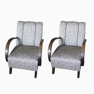 Vintage Armchairs by Jindřich Halabala, 1940s, Set of 2