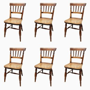 19th Century Windsor Dining Chairs, Set of 6