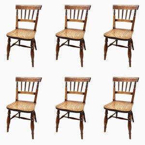 Chaises de Salle à Manger Windsor, 19ème Siècle, Set de 6