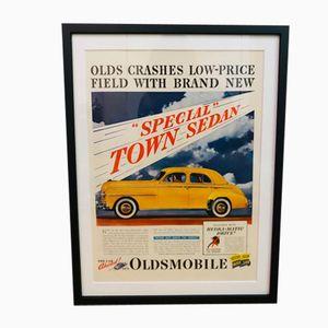 Vintage Oldsmobile Car Advertisement, 1950s