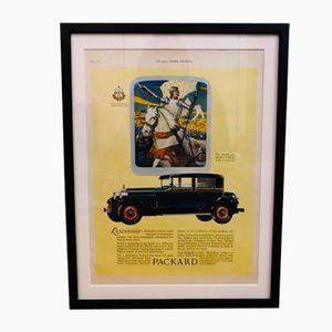 Affiche Publicitaire Packard Car Vintage, 1927