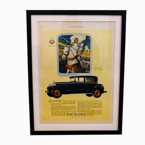 Vintage Packard Car Advertisement Poster, 1927